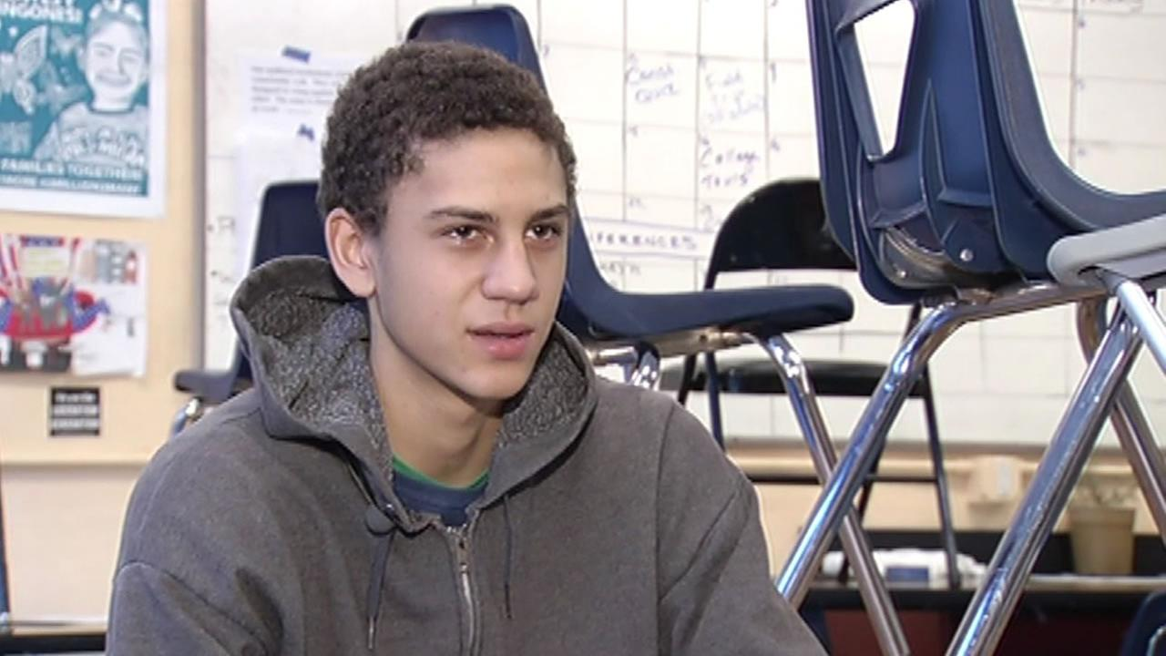 San Francisco high school student Neil Putzer talks to ABC7 News about a college essay scholarship he won on Tuesday, November 10, 2015.