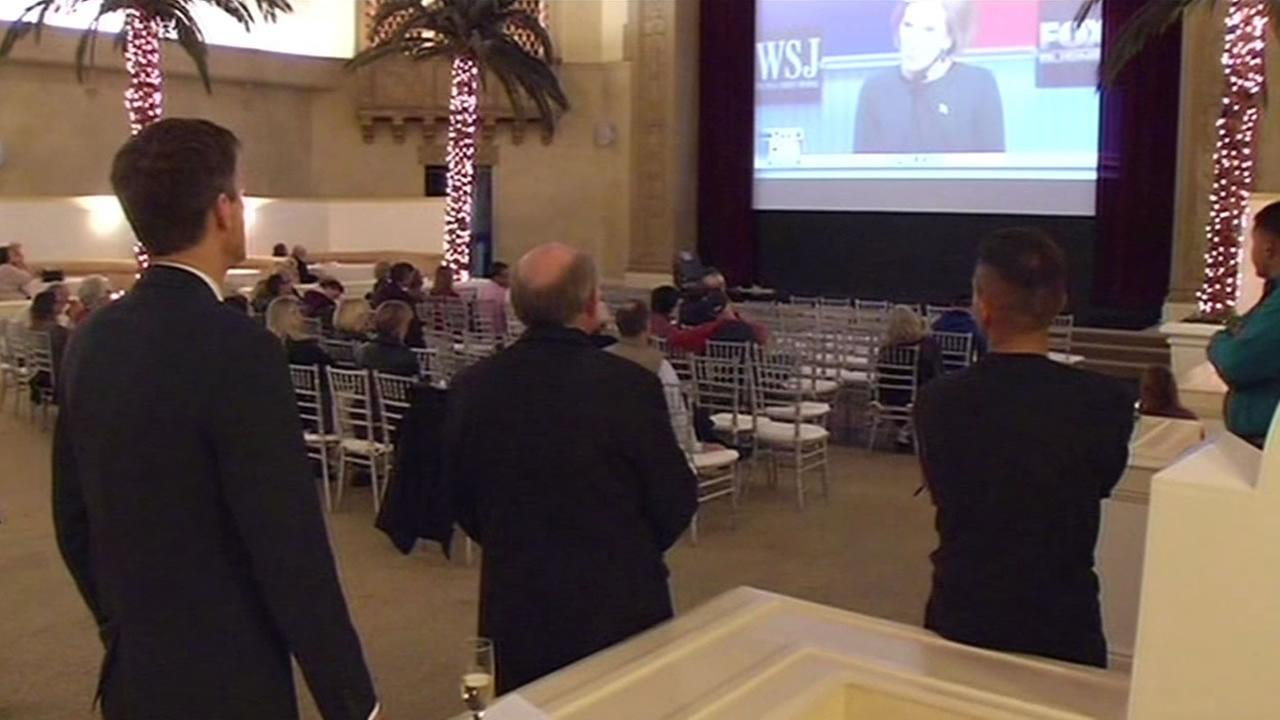 Republicans in the South Bay gathered Tuesday Nov. 10, 2015  to watch the GOP debate at the Corinthian Grand Ballroom in San Jose, Calif.