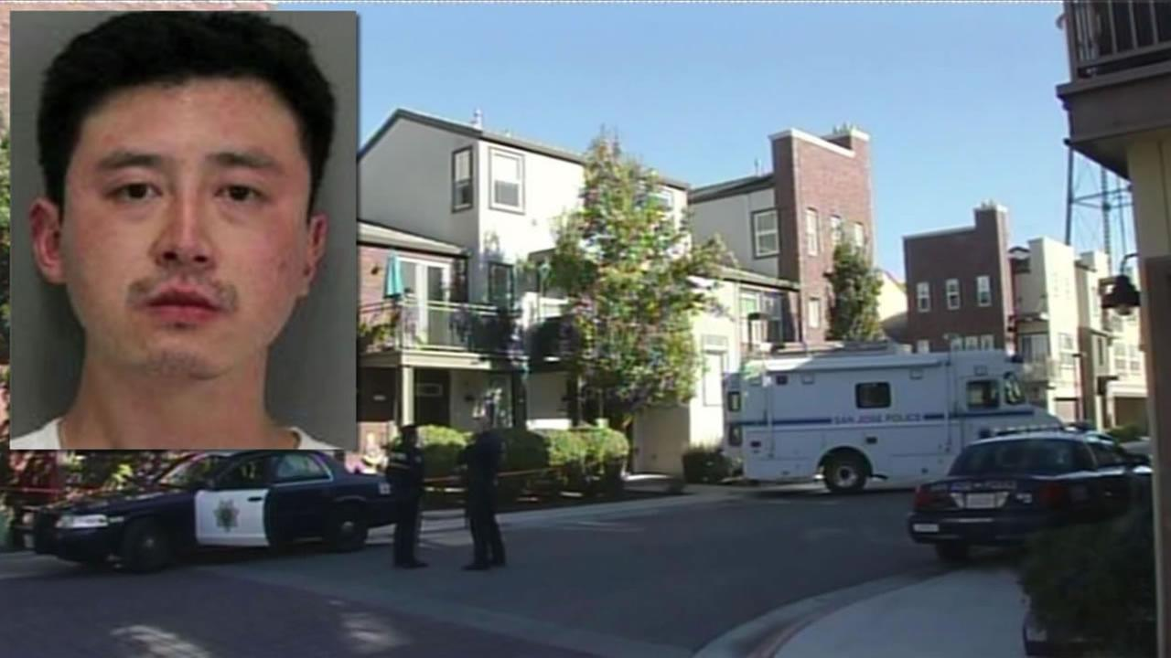 San Jose police have released an image of 36-year-old Shannon Nathan Wong, man accused of carrying a rifle and trying to break in to his neighbors home  November 11, 2015.