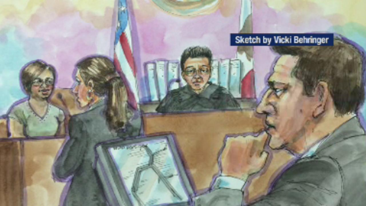 Sketch of Johannes Mehserle in court (courtesy of Vicki Behringer)