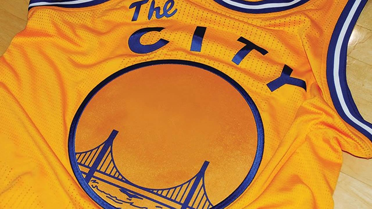 The Golden State Warriors will wear The City jerseys for their game against the Toronto Raptors in Oakland, Calif. on Tuesday, November 17, 2015.