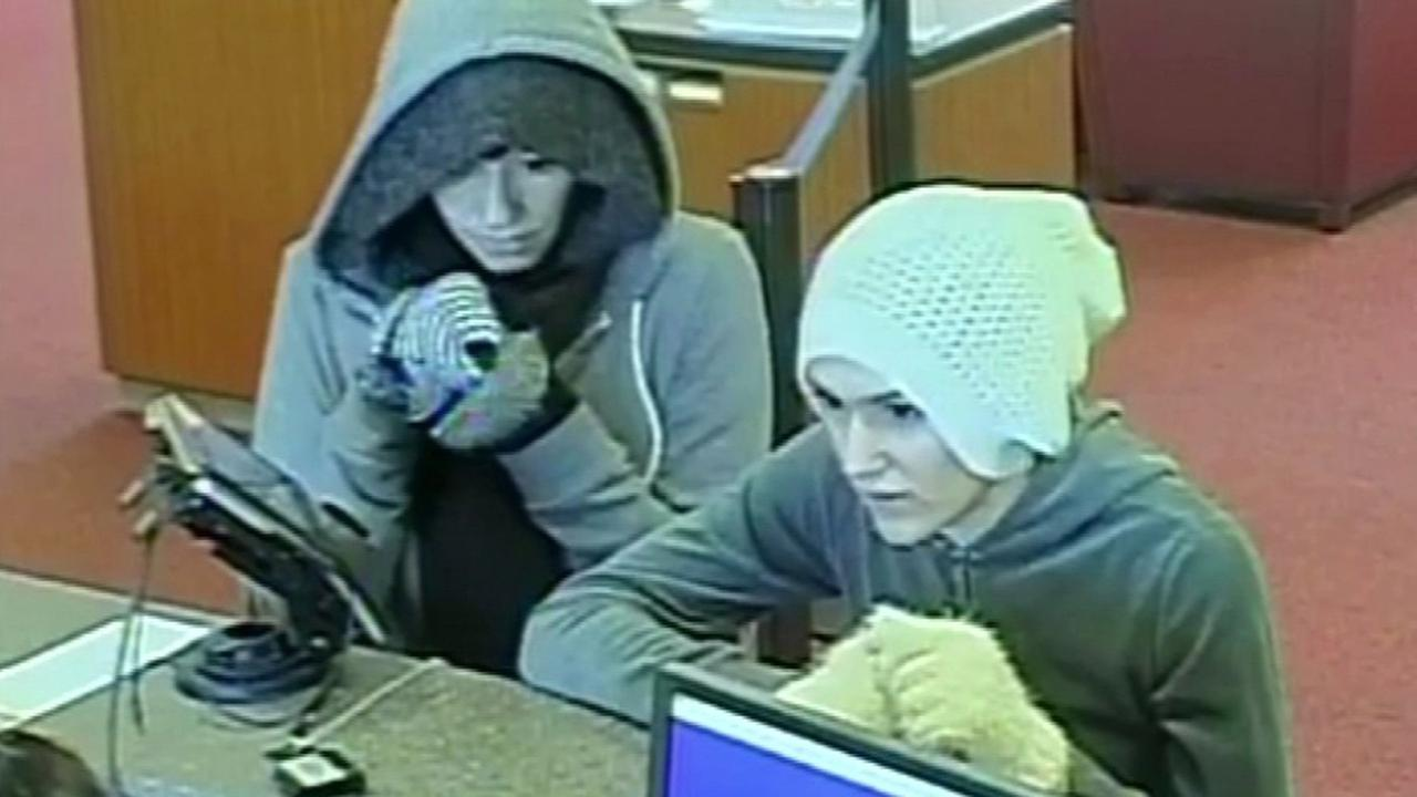 Police are seeking suspects in connection with a bank robbery in Dublin, Thursday, November 17, 2015.