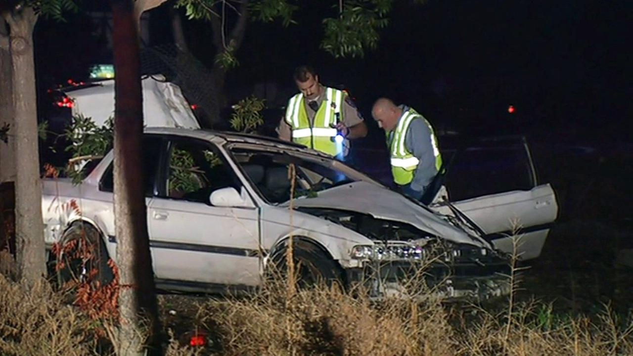The CHP is investigating a fatal crash after a chase in the South Bay, Wednesday, November 18, 2015.