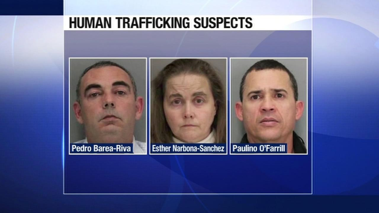 On Tuesday, November 17, 2015, police say three people were arrested for human trafficking and wage theft in Saratoga, Calif.