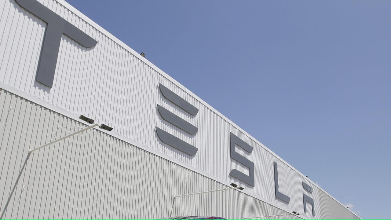 FILE - The Tesla factory in Fremont, Calif.
