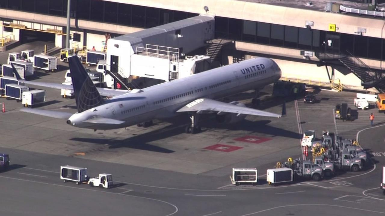 United Flight 1108 was delayed at SFO because of a suspicious passenger on Friday, November 20, 2015.