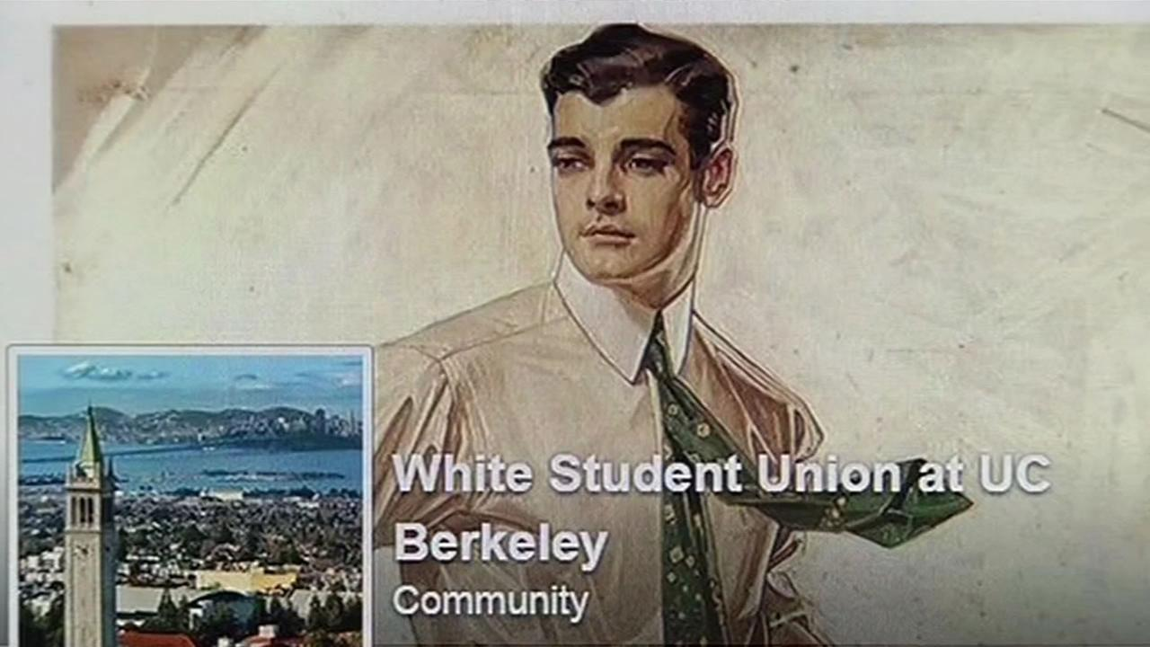 A UC Berkeley White Student Union Facebook page is seen on Monday, November 23, 2015.