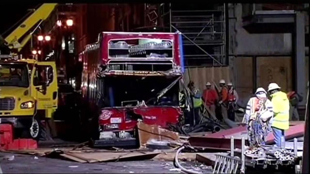 A tour bus crashed in San Franciscos Union Square Nov. 13, 2015.