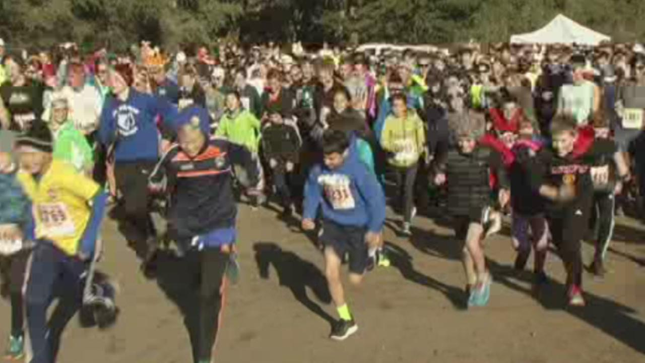 Hundreds of runners came out for the annual San Francisco Turkey Trot on Thursday, Nov. 26, 2015.