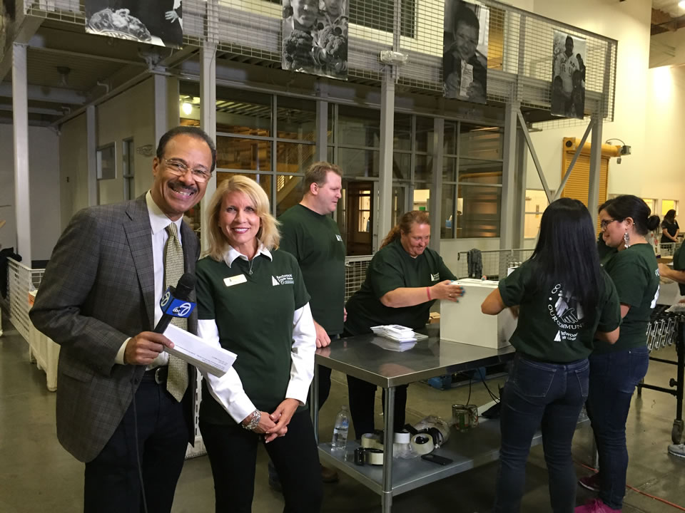 "<div class=""meta image-caption""><div class=""origin-logo origin-image none""><span>none</span></div><span class=""caption-text"">ABC7 News Weather Anchor Spencer Christian is seen with Redwood Credit Union volunteers at Redwood Empire Food Bank in Santa Rosa, Calif. on Monday, November 2, 2015.  (KGO-TV)</span></div>"