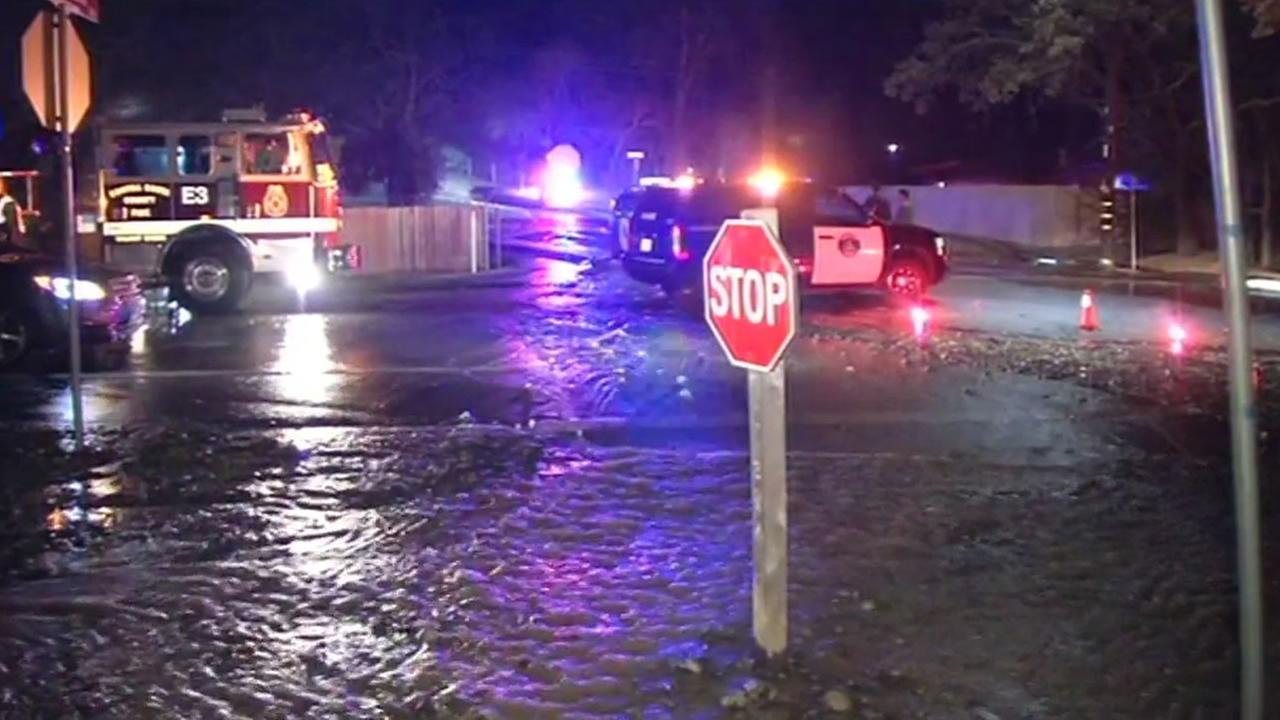 Reliez Station Road water main break