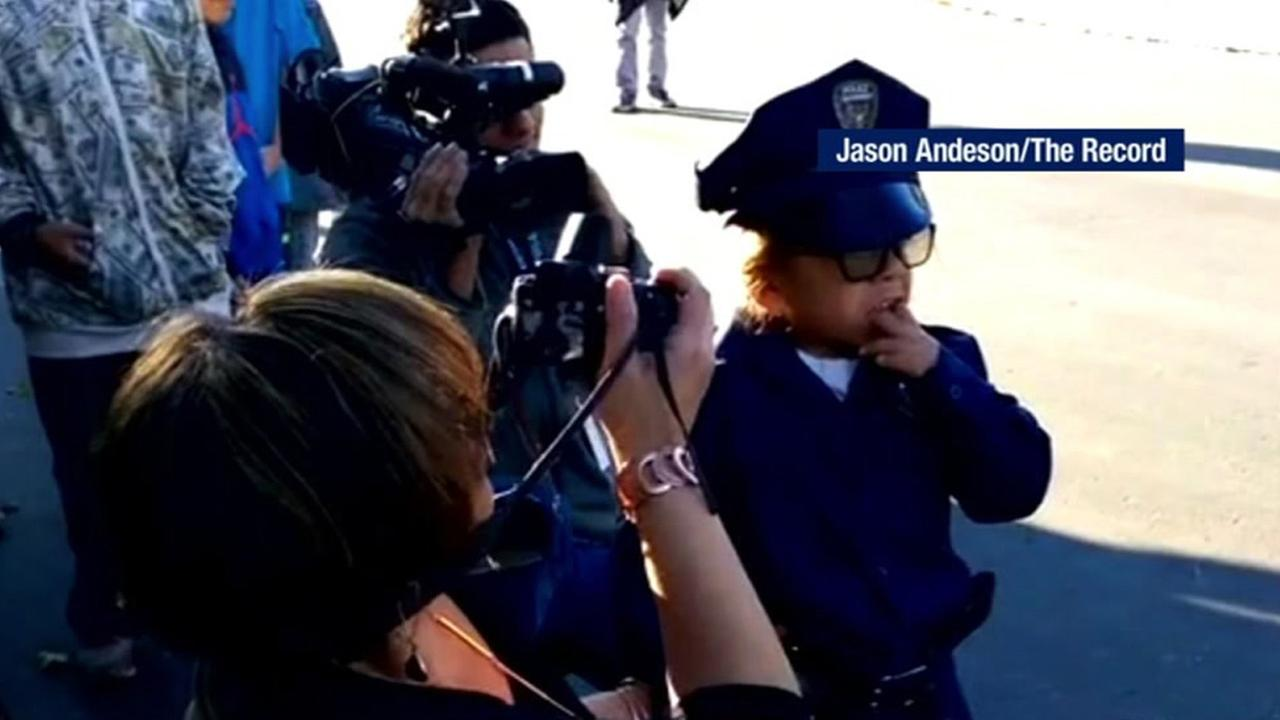 The Stockton Police Department wanted to make 7-year-old Ricky Buzos birthday unforgettable.