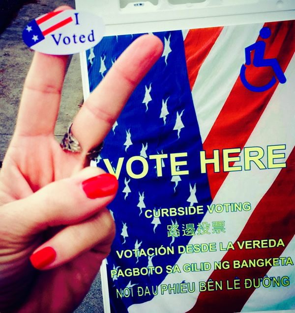 "<div class=""meta image-caption""><div class=""origin-logo origin-image ""><span></span></div><span class=""caption-text"">Voters are sending in selfies from polling places around the Bay Area on election day. (KGO)</span></div>"