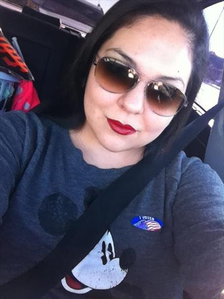 "<div class=""meta image-caption""><div class=""origin-logo origin-image ""><span></span></div><span class=""caption-text"">""#votingselfie. Tereza from Sunnyvale Ca. I felt adultish! Haha!"" Photo submitted via uReport.</span></div>"