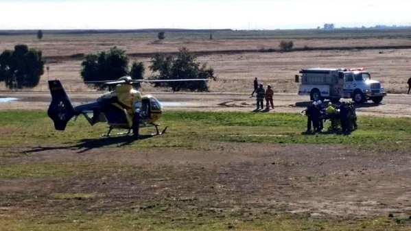 """<div class=""""meta image-caption""""><div class=""""origin-logo origin-image none""""><span>none</span></div><span class=""""caption-text"""">In this image, a helicopter is seen transporting a UC Merced stabbing victim to the hospital on Wednesday, November 4, 2015. (@LauraAnthony7/Twitter)</span></div>"""