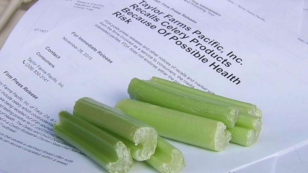 Celery sold by Taylor Farms Pacific in Tracy, California has been recalled due to an E. coli scare