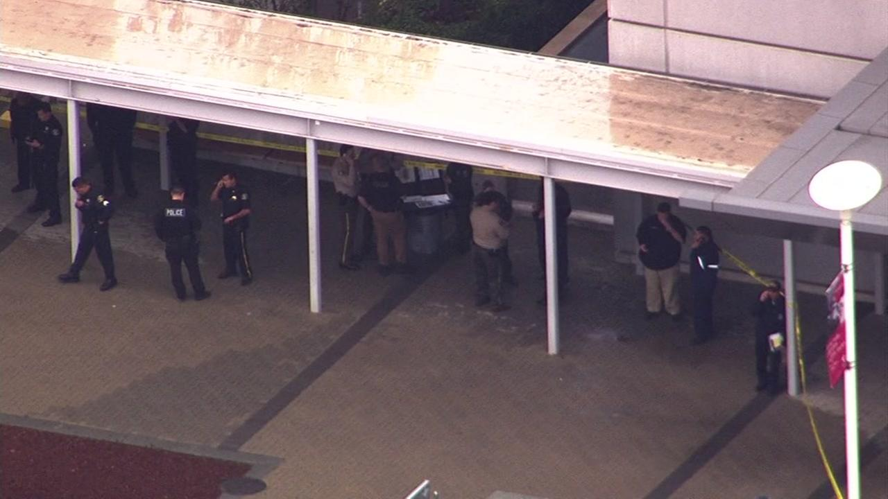 A heavy police presence was at Santa Clara Valley Medical Center in San Jose, Calif. on Thursday, December 3, 2015.