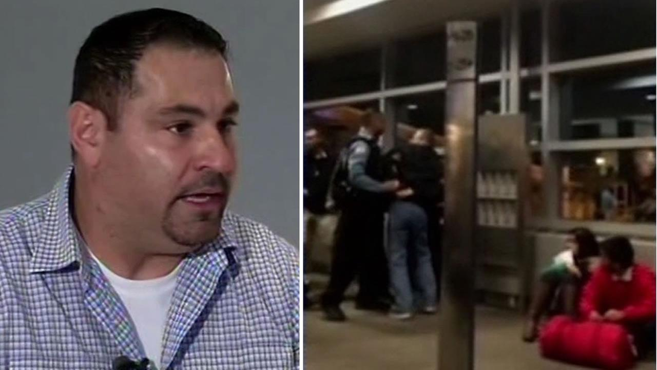 Maz Barbari from Pleasant Hill, Calif. is being hailed as a hero after he helped in an incident at Midway International Airport in Chicago on Wednesday, December 2, 2015.