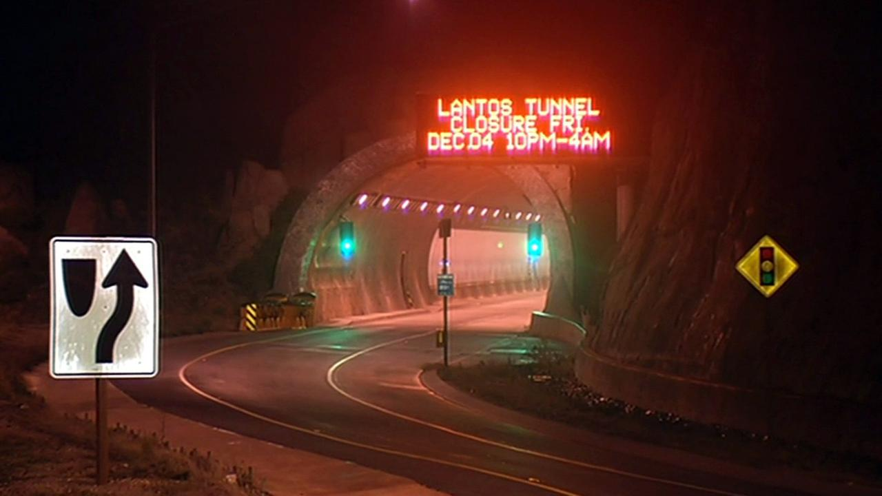 Tom Lantos tunnels, formerly known as the Devils Slide tunnels will close late Friday night, December 4, 2015.