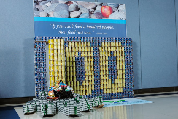 """<div class=""""meta image-caption""""><div class=""""origin-logo origin-image """"><span></span></div><span class=""""caption-text"""">MOTHER THERESA: If you can't feed one hundred people, then feed just one. The Public Works Agency of Alameda County created this display with over 1,500 pounds of food.</span></div>"""