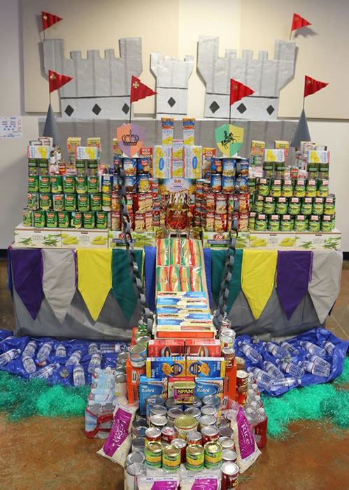 """<div class=""""meta image-caption""""><div class=""""origin-logo origin-image """"><span></span></div><span class=""""caption-text"""">KINGDOM OF CAN-A-LOT: The City of Pleasanton built a castle. This display was made from over 564 pounds of food .</span></div>"""