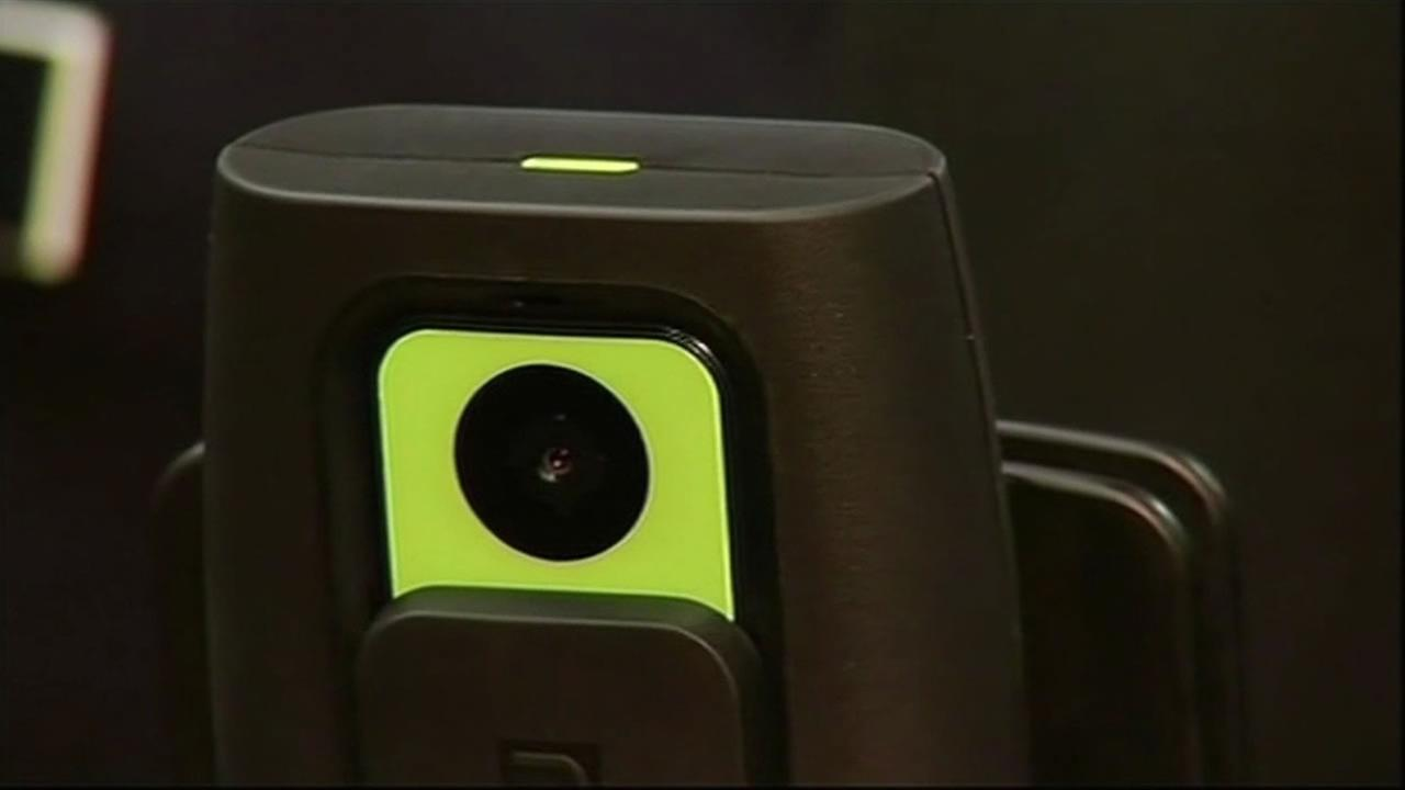 Oakland police officers use body cameras like this one when out on the job.