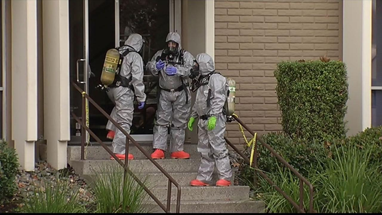 Authorities have evacuated the Council on American-Islamic Relations (CAIR) office in Santa Clara after a suspicious substance was found Dec. 10, 2015.