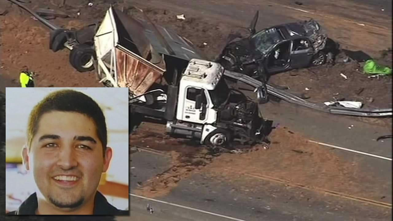 Santa Cruz, Calif. resident Daniel McGuire was killed after a big rig smashed through a rail on Highway 17 and struck his car in 2014.