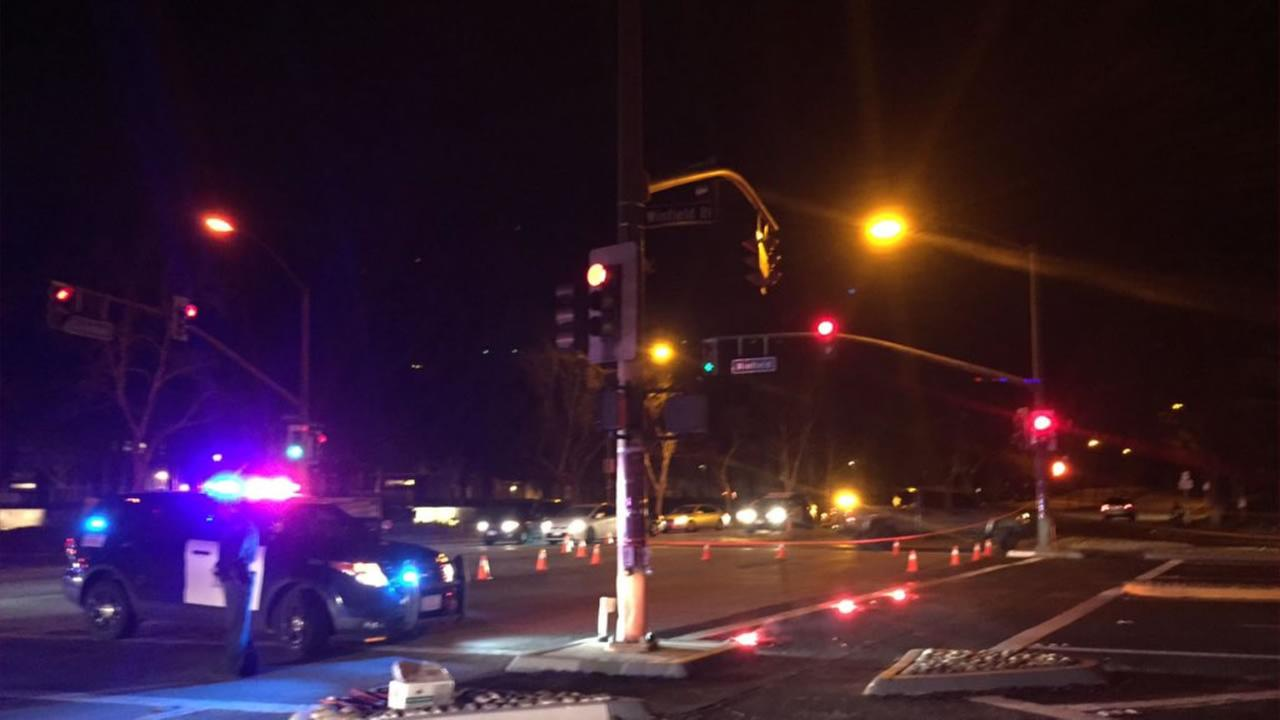 Police are investigating a possible carjacking and shooting in San Jose, Calif. Dec. 14, 2015.