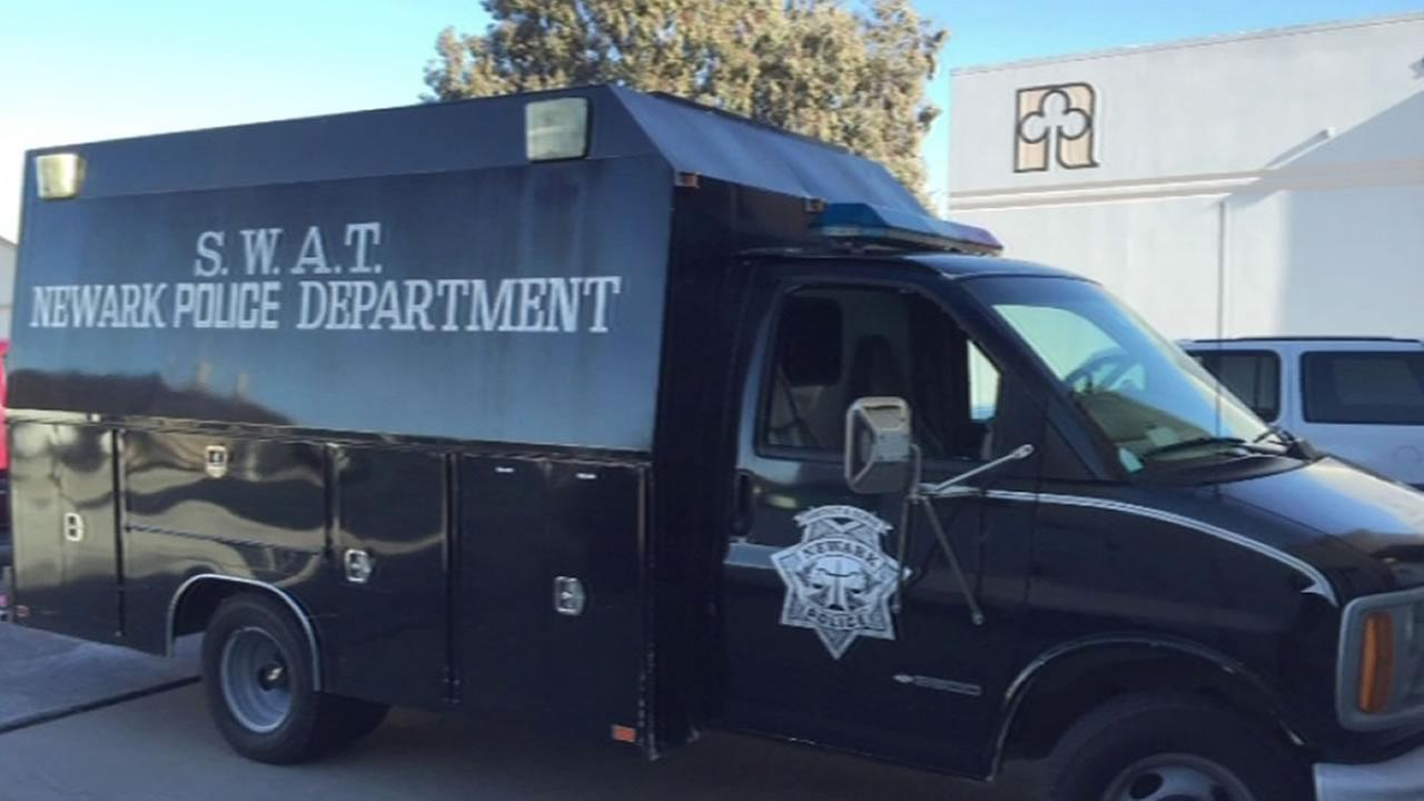 Newark SWAT van