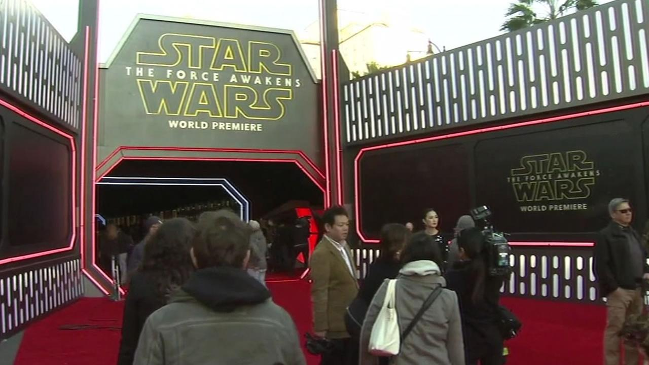 Star Wars: The Force Awakens logo at movie theatre