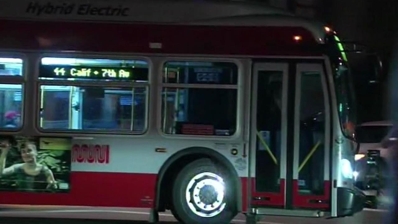 Three passengers and a bus operator on a Muni bus bus were injured when a distracted driver crashed into the bus near San Franciscos Laguna Honda Hospital Thursday night.