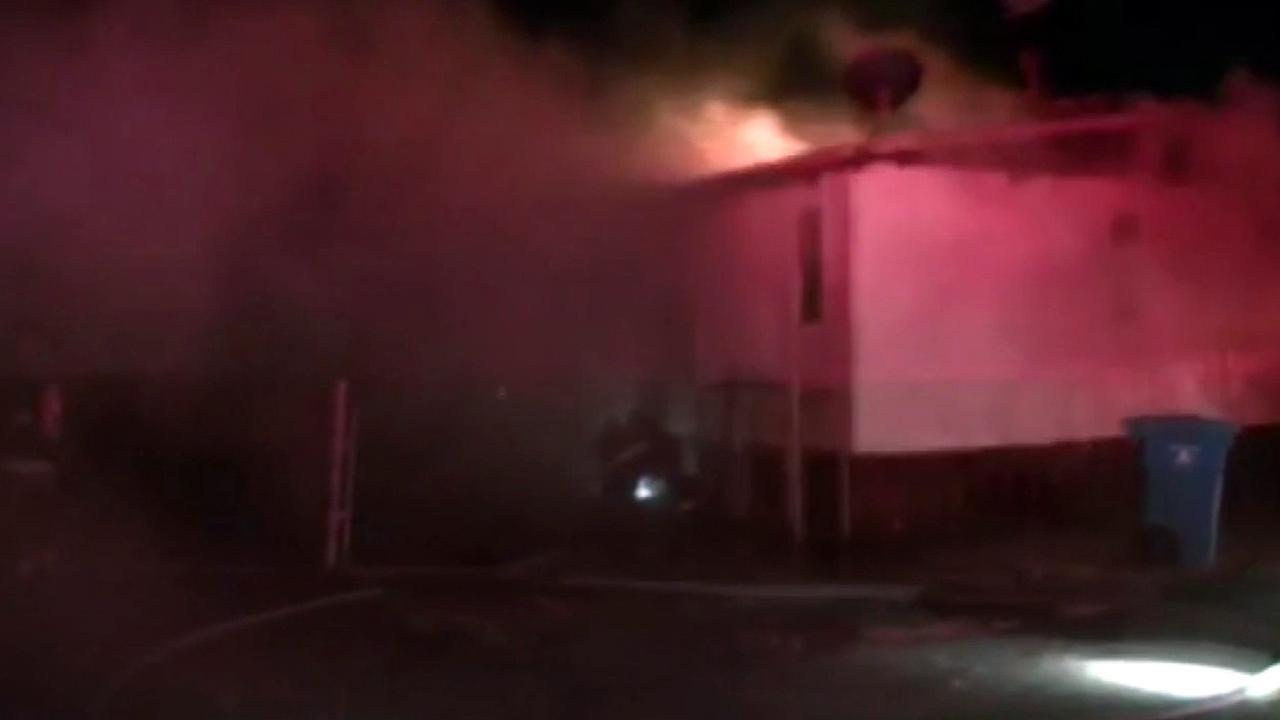 A fire broke out at the Vallejo Mobile Estates on San Joaquin Drive, Wednesday, December 23, 2015.