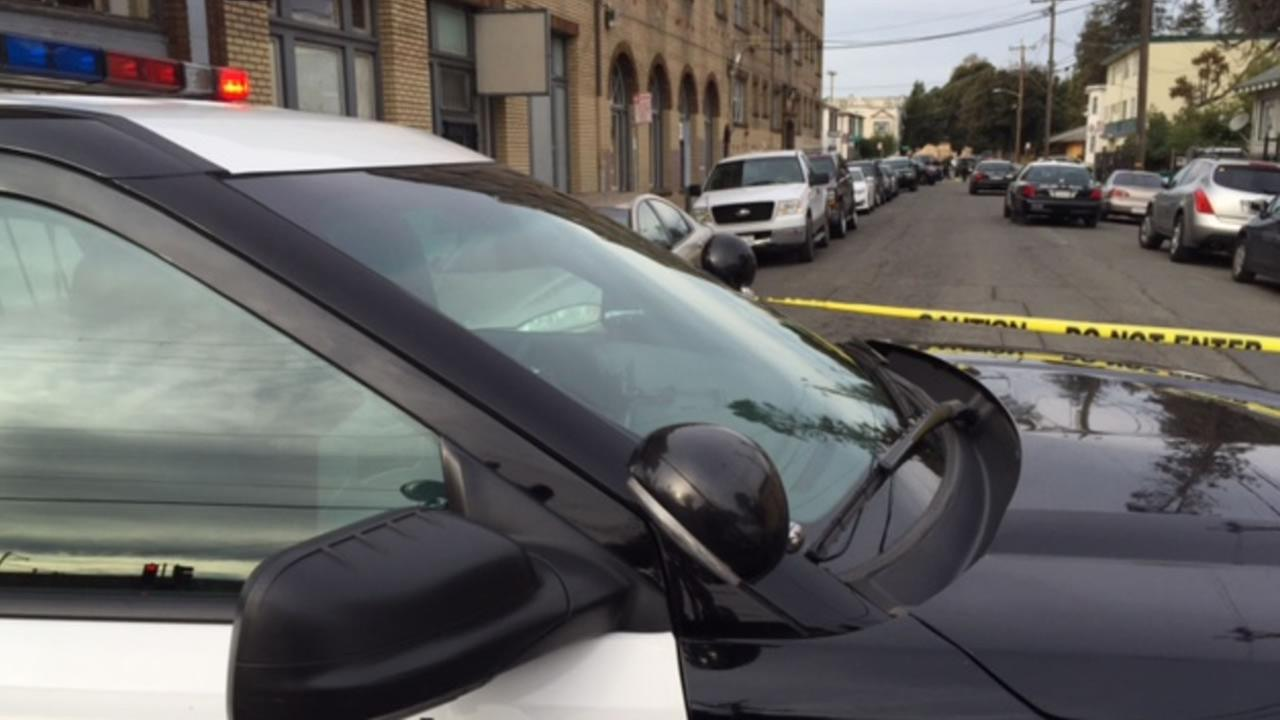 Police were on the scene of a fatal stabbing in the 3000 block of East 15th Street in Oakland, Calif. on Sunday, December 27, 2015.