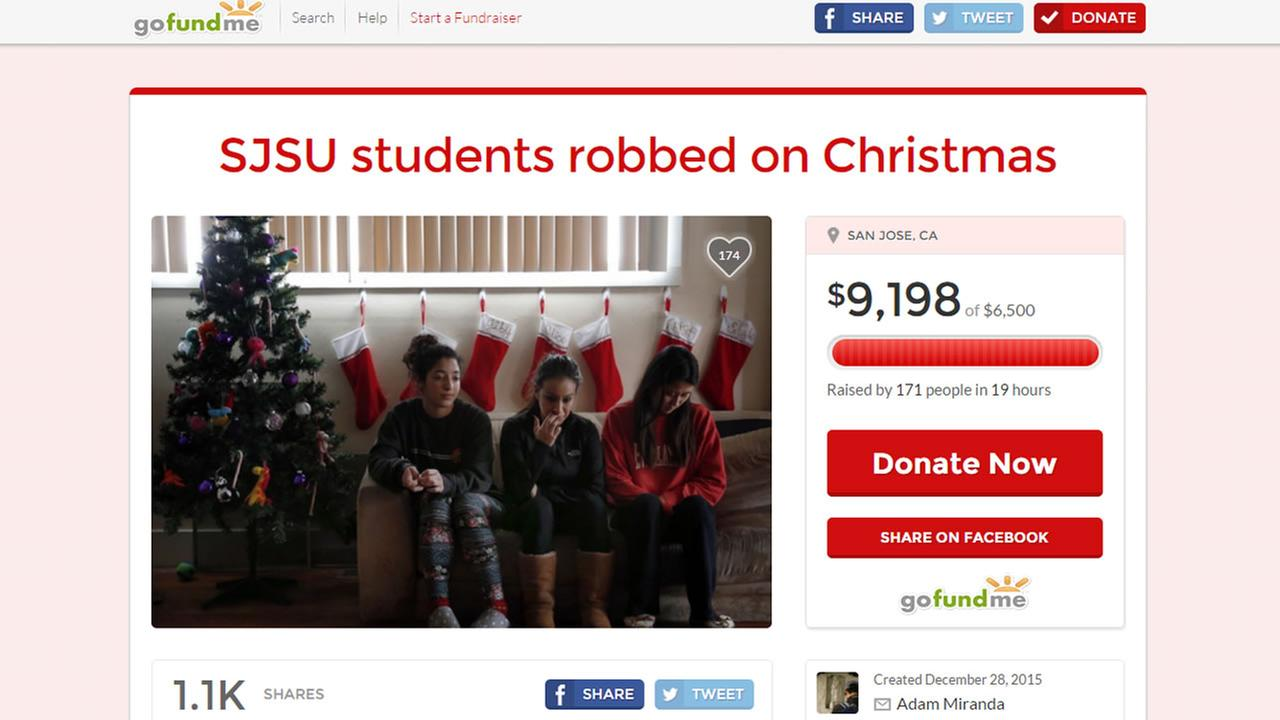 GoFundMe page for SJSU students