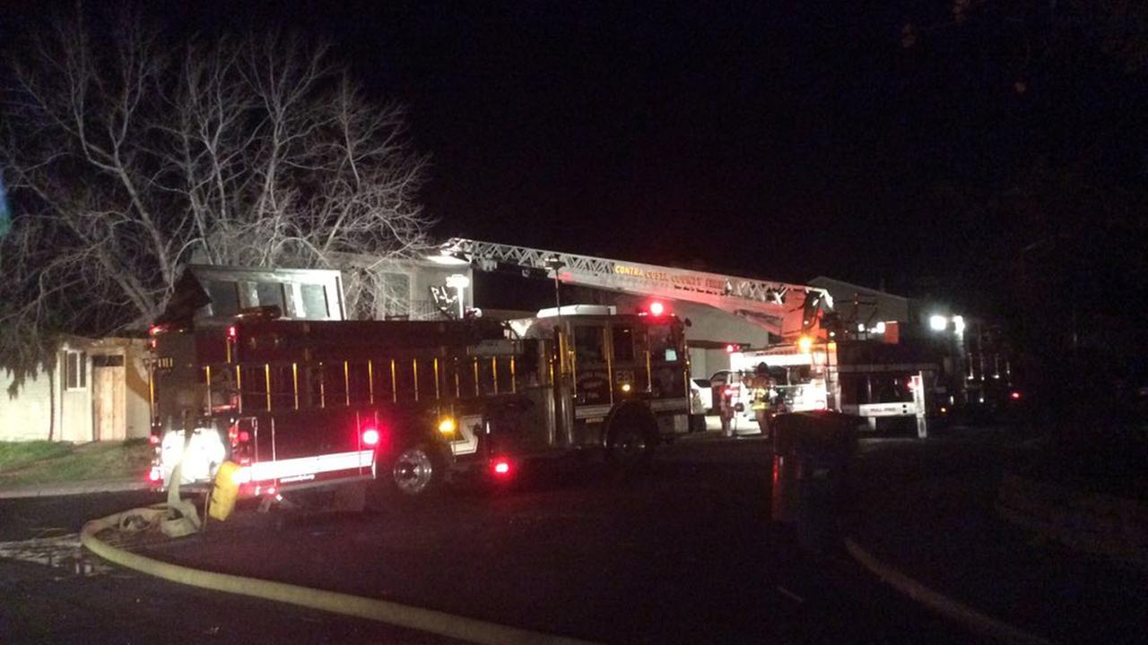 Two adults and one dog have been displaced after a house fire in Antioch, Tuesday, December 28, 2015.