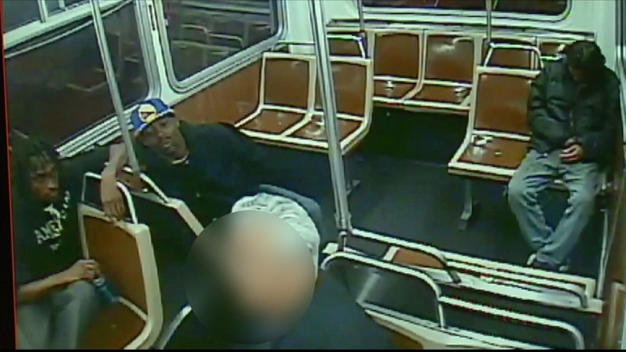 This image from surveillance video shows an attack on a Muni passenger in San Francisco on November 3, 2015.