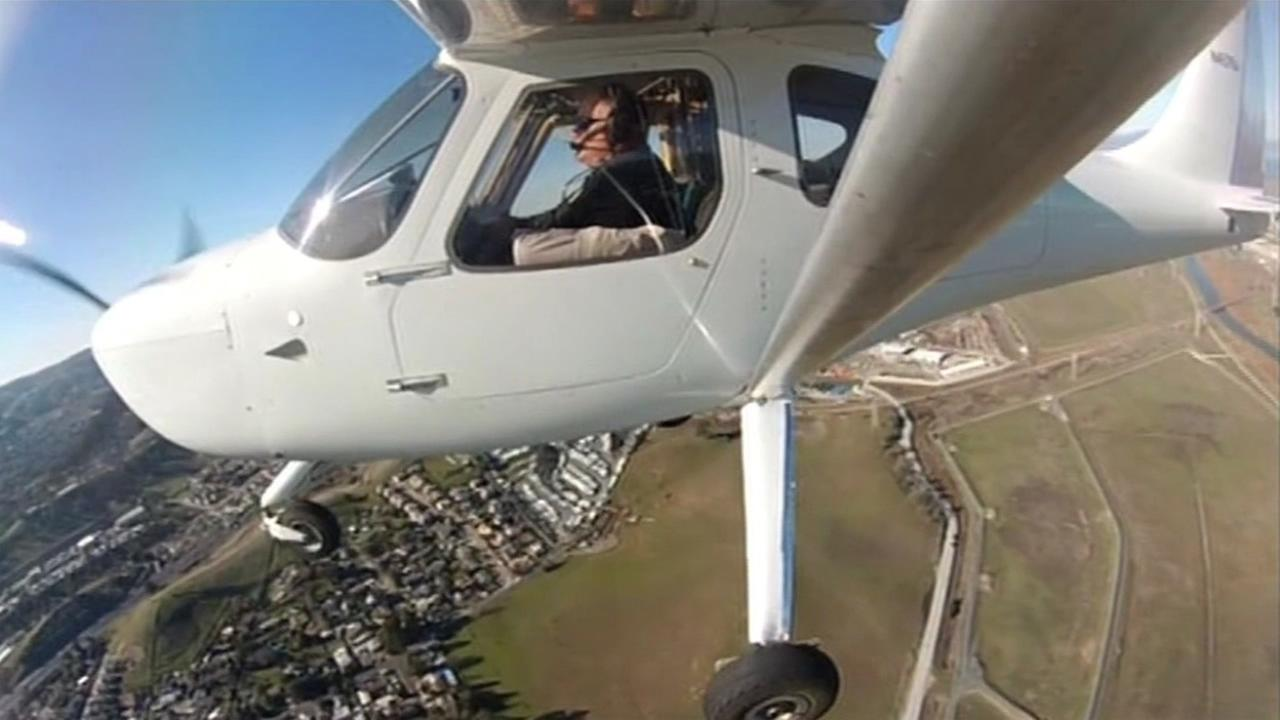 FILE: Pilot flies over Contra Costa County.