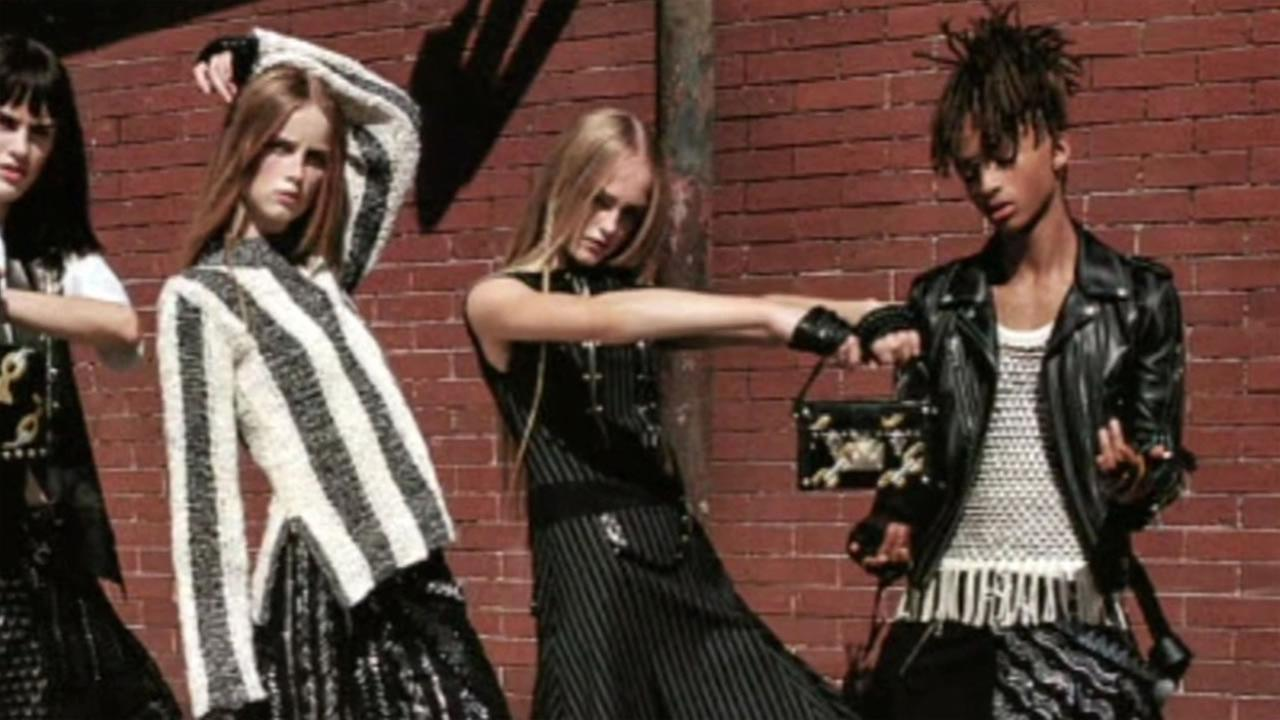 This undated photos shows Jaden Smith in an ad for Louis Vuitton womens line.