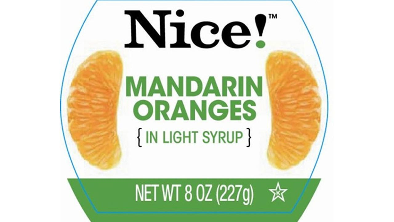 This undated image from the FDA shows a jar of Walgreens brand mandarin oranges that have been recalled.