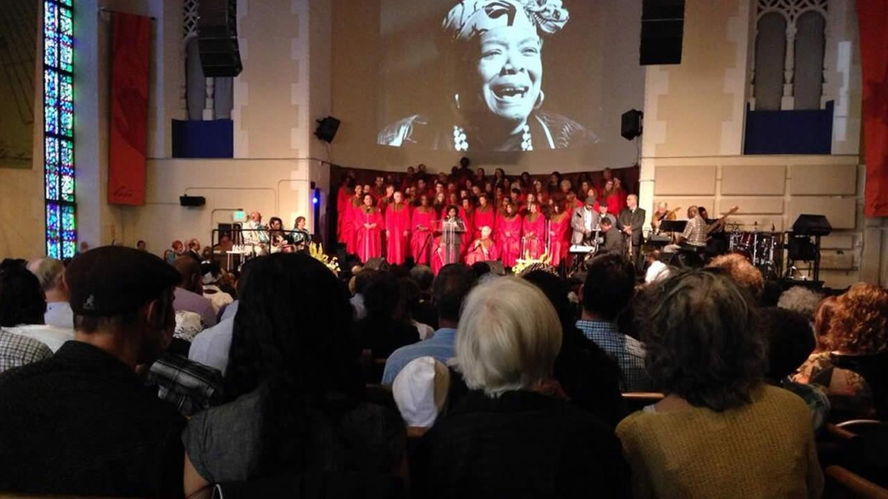 Memorial for Dr. Maya Angelou at San Franciscos Glide Memorial Church.