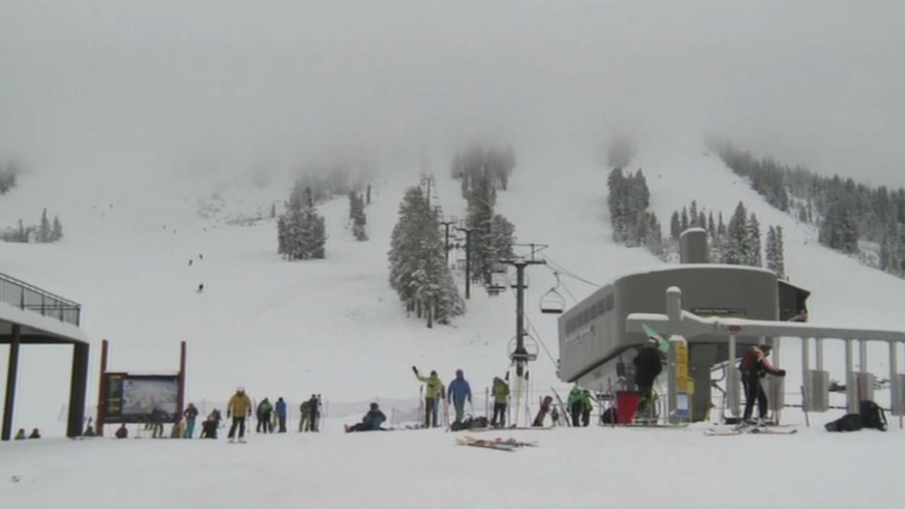 Skiiers and snowboarders at Mammoth, Kirkwood and Heavenly Mountain are participating in a Guinness World Record attempt on Friday, January 8, 2015.