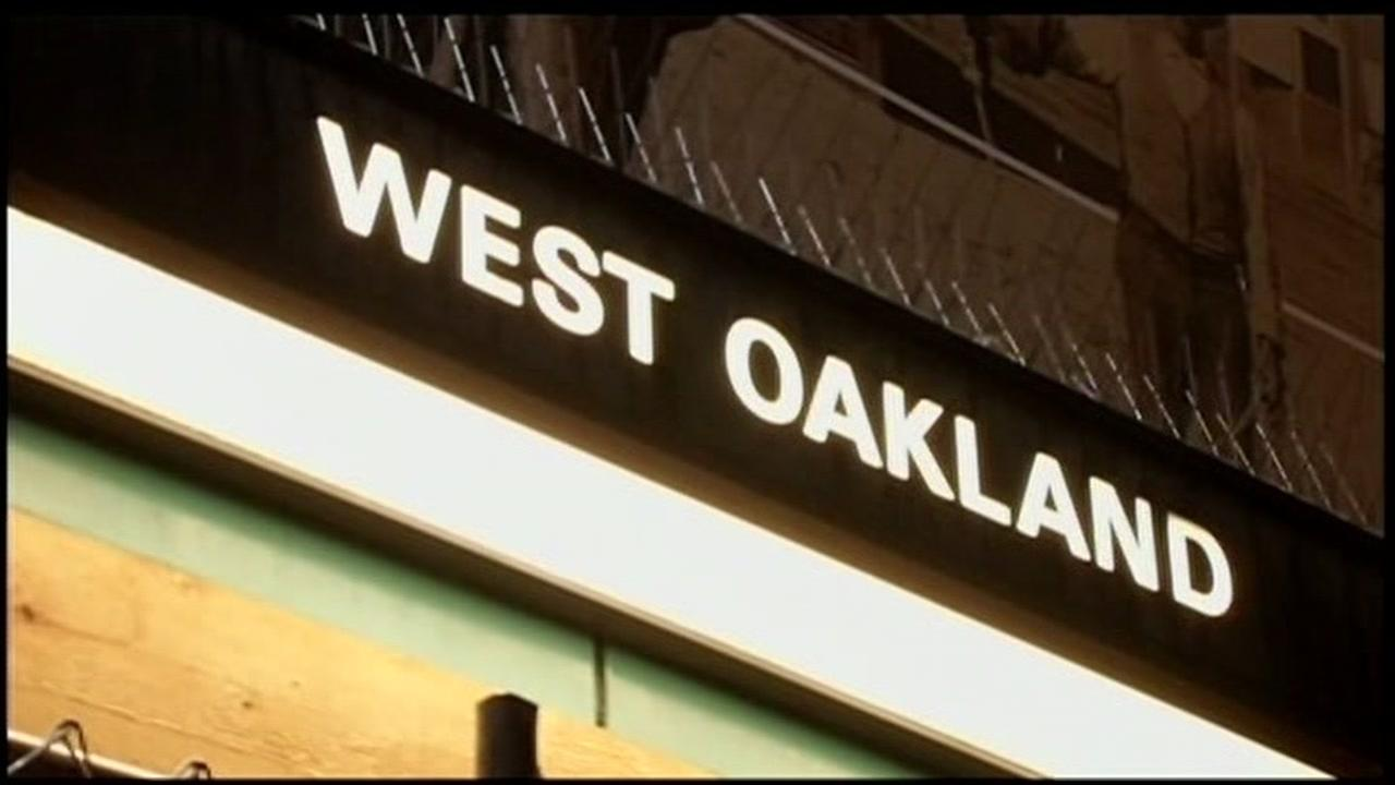 A sign for the West Oakland BART station sign is seen on Saturday, January 9, 2016 in West Oakland, Calif.