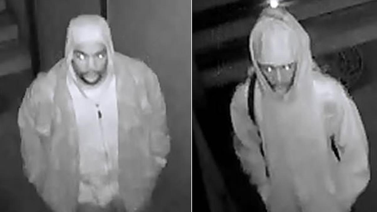 San Mateo County police are searching for these two attempted residential burglary suspects, seen on camera at an Emerald Lake Hills, Calif. home on Wednesday, Dec. 30, 2015.