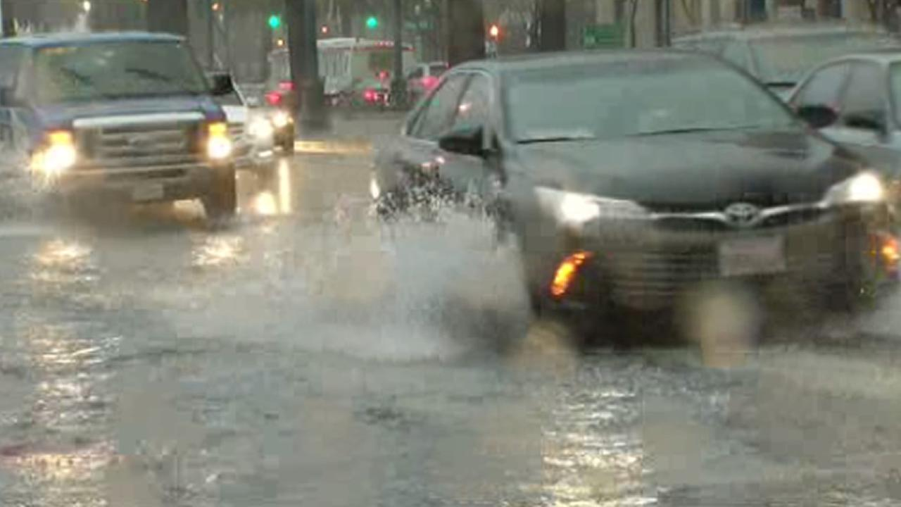 A storm triggered a traffic slowdown along The Embarcadero in San Francisco on Tuesday, January 19, 2016.KGO-TV