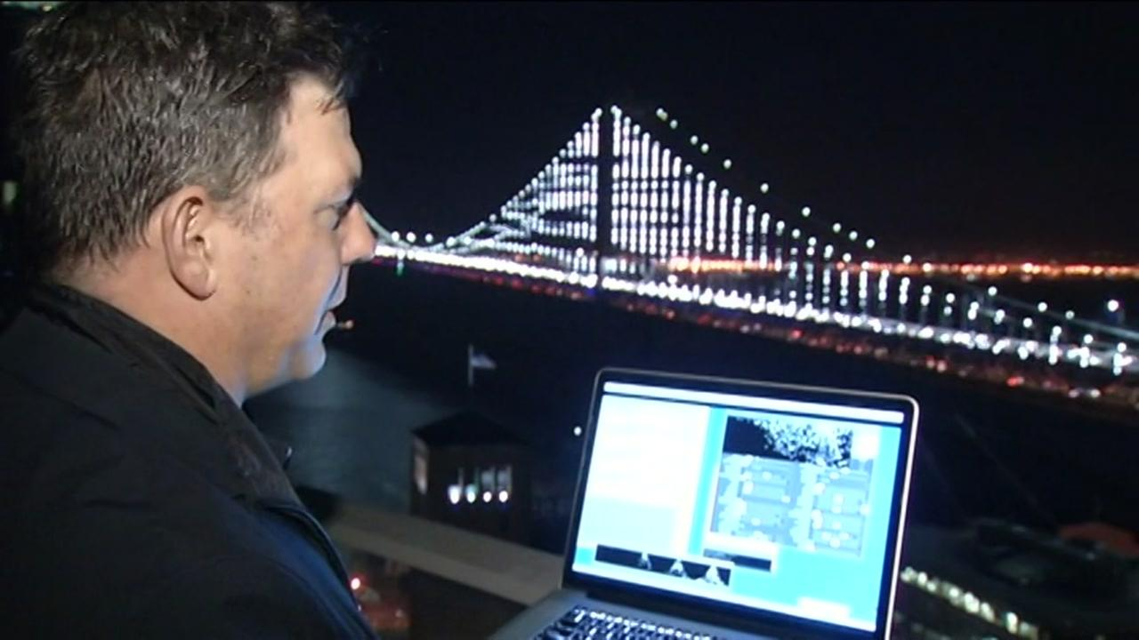Bay Lights artist Leo Villareal gave ABC7 News a demonstration in San Francisco on Wednesday, January 20, 2016.