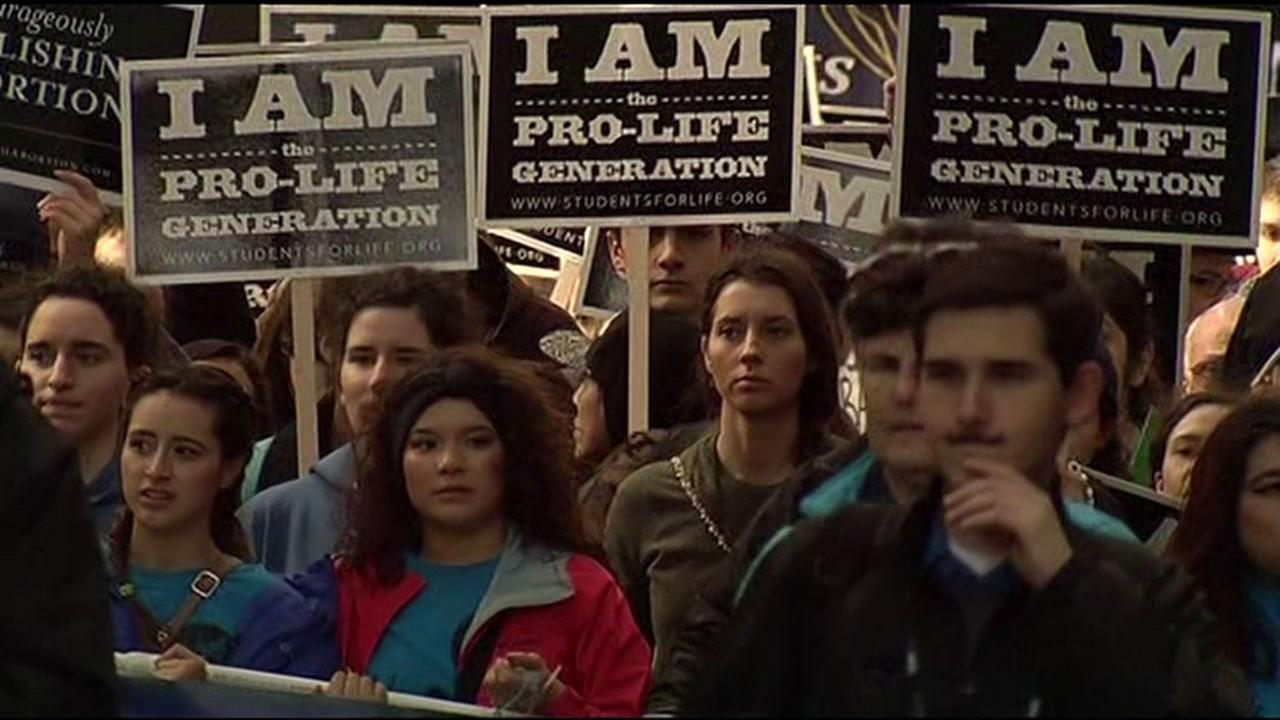 Thousands of anti-abortion activists rallied in San Francisco Jan. 23, 2016 for the Walk For Life March: West Coast.