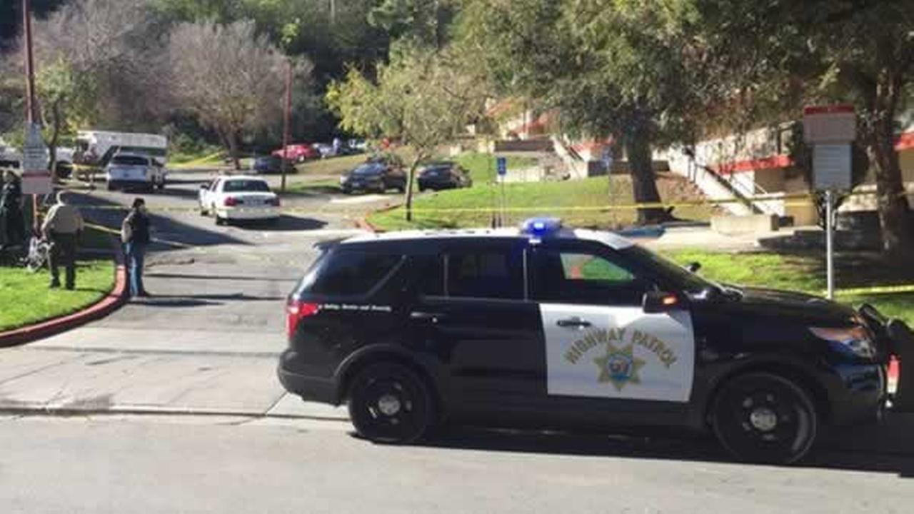 Marin County sheriffs are on the scene of a multiple homicide in Marin City, Calif. on Sunday, February 7, 2016.