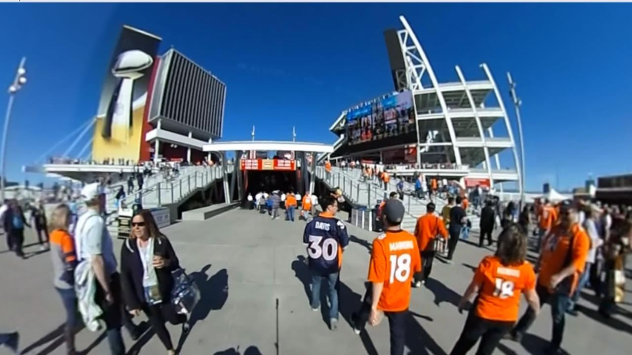 Fans gather at Levis Stadium in Santa Clara, Calif. on Sunday, February 7, 2016 for Super Bowl 50.