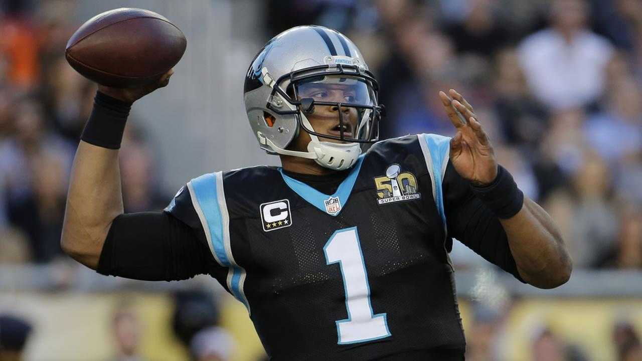 Carolina Panthers Cam Newton passes against the Denver Broncos during the first half of the NFL Super Bowl 50 football game Sunday, Feb. 7, 2016, in Santa Clara, Calif.AP Photo/Julio Cortez